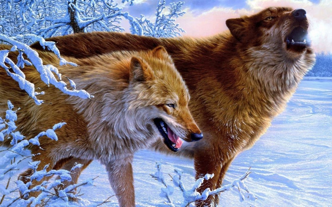 fantasy original art artistic artwork wolf wolves wallpaper