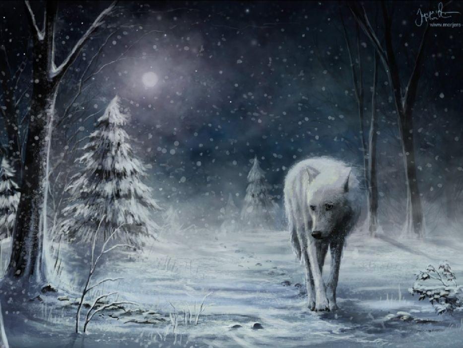 fantasy original art artistic artwork wolf wolves wallpaper