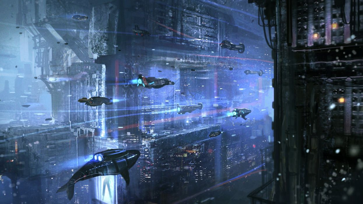 sci-fi science fiction original art artistic artwork cyberpunk d wallpaper
