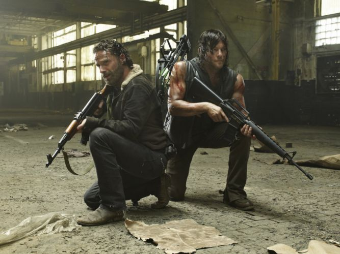 The walking dead Rick and Daryl wallpaper