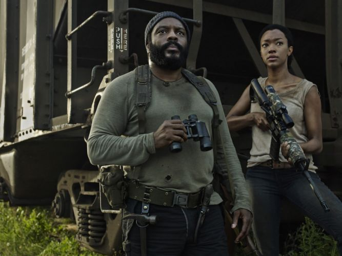 The walking dead Tyreese and Sasha wallpaper