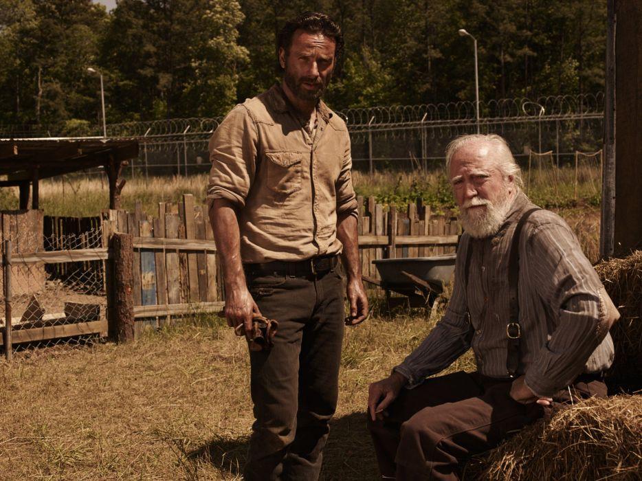 The Walking Dead Hershel and Rick wallpaper