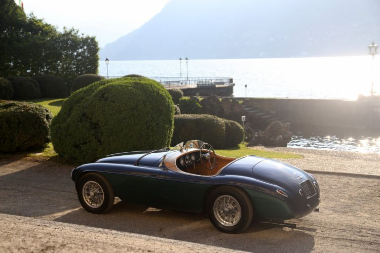 1950 Ferrari 166-MM Barchetta classic cars blue wallpaper