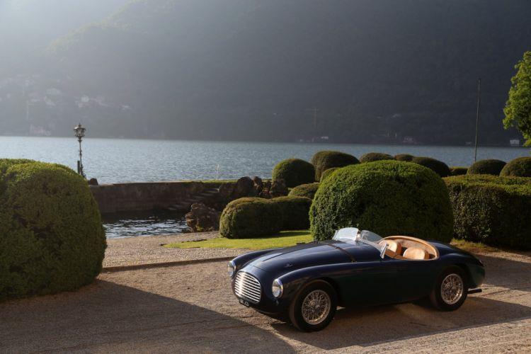 1950 Ferrari 166-MM Barchetta classic cars blue wallpaper