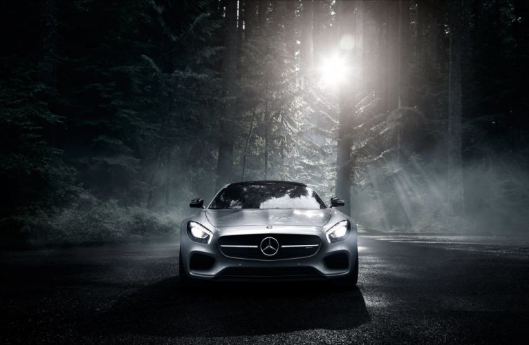 car beauty forest dark wallpaper