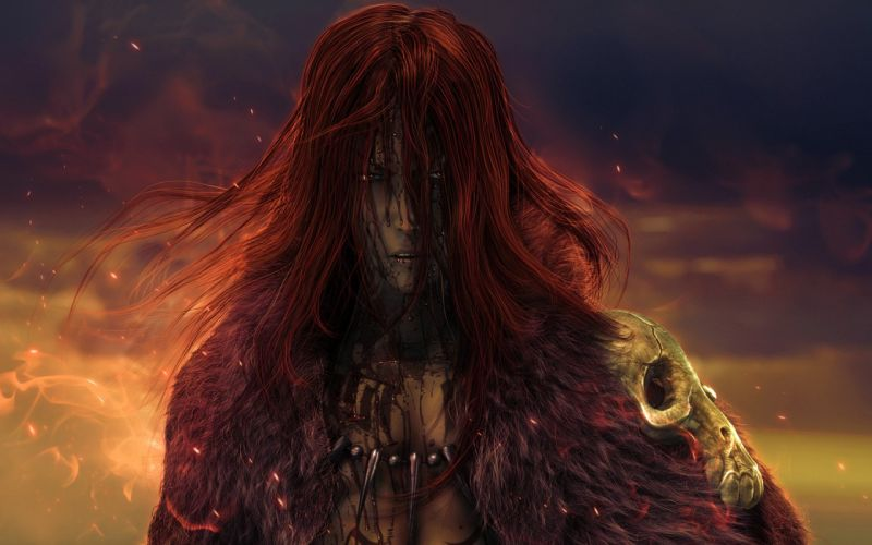 red hair king fantasy male wallpaper