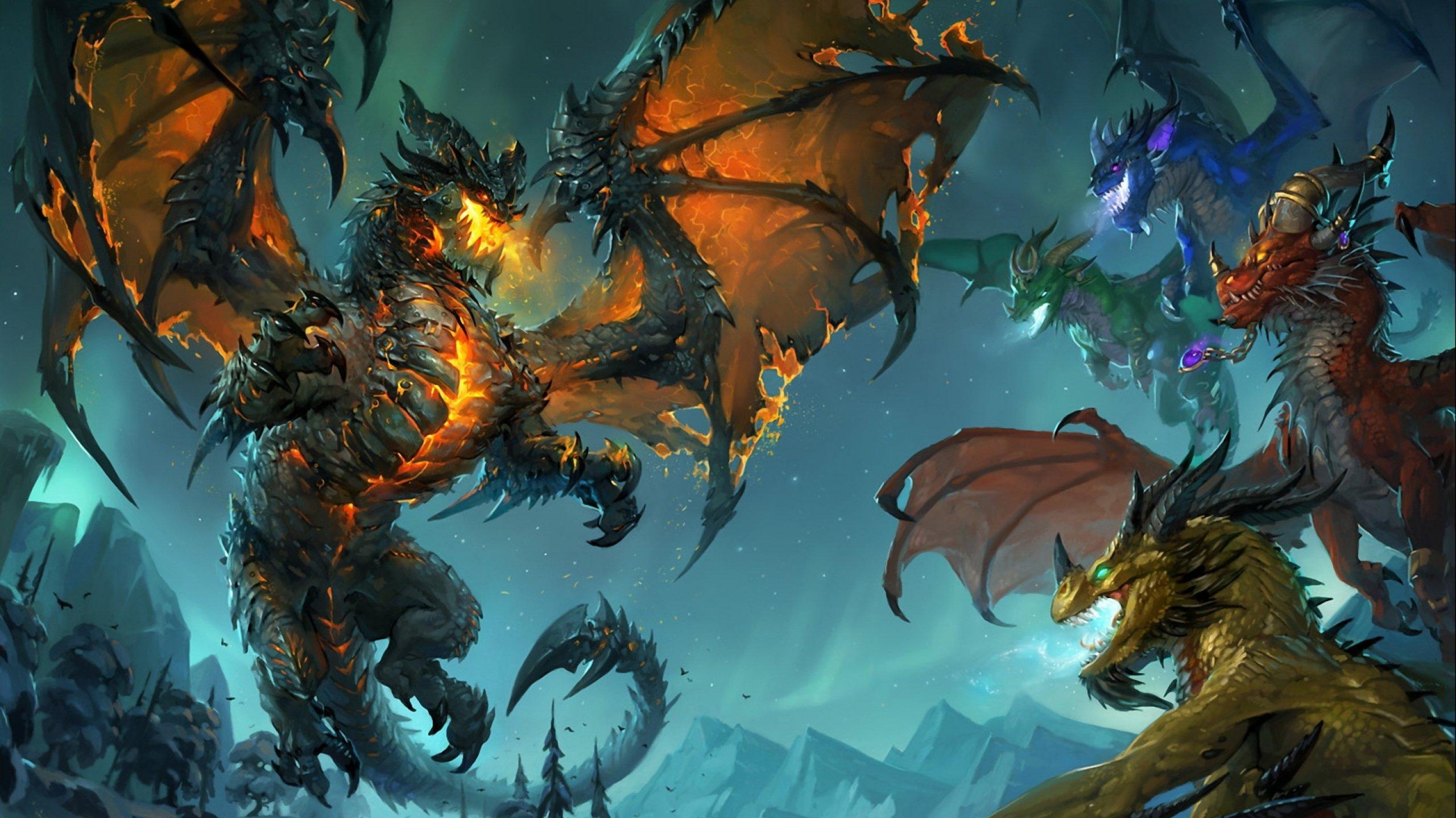 World Warcraft Fantasy Artwork Warrior D Wallpaper 2560x1440