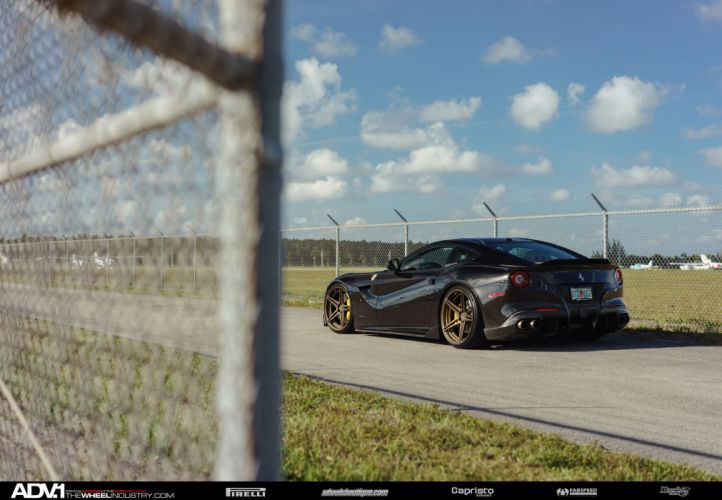 ADV 1 WHEELS GALLERY FERRARI F12 coupe cars black modified wallpaper