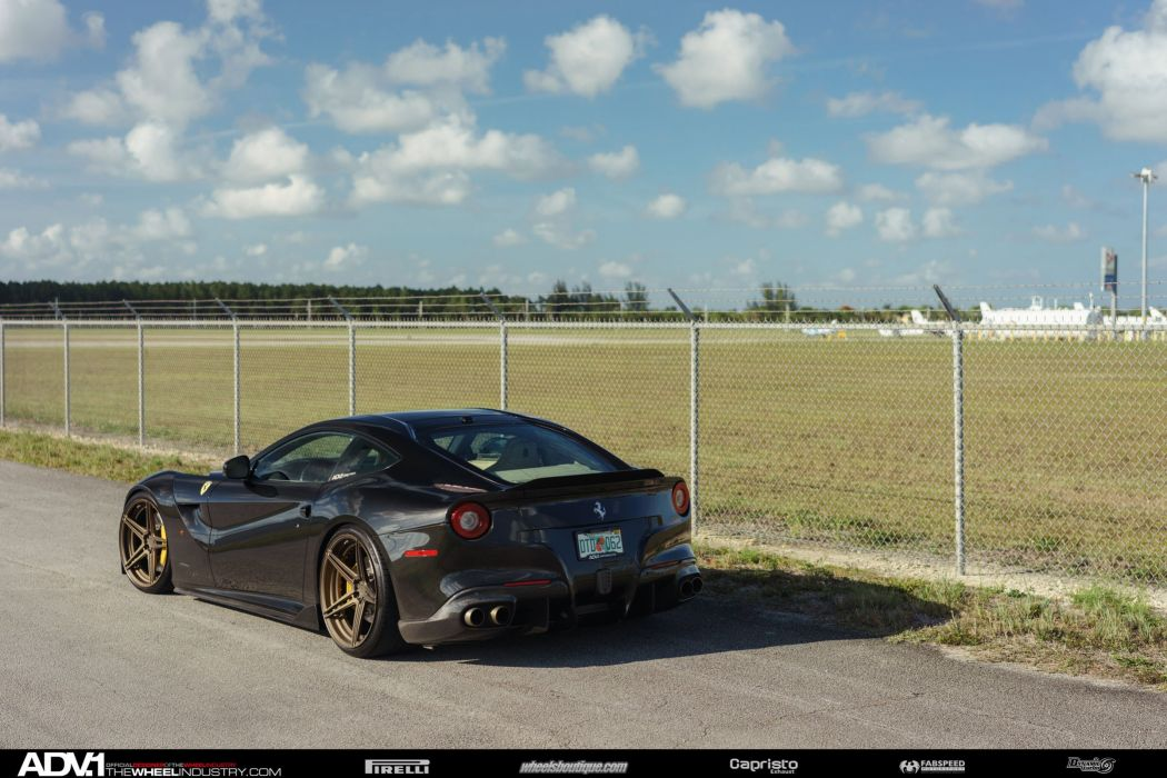 ADV 1 WHEELS GALLERY FERRARI F12 coupe cars black modified wallpaper