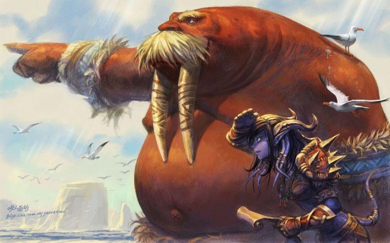 WORLD WARCRAFT fantasy artwork warrior d wallpaper