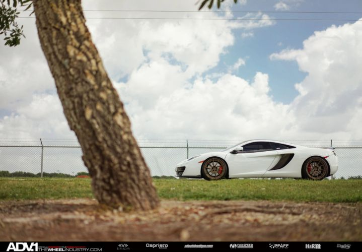 ADV 1 WHEELS GALLERY MCLAREN MP4 12C coupe cars white modified wallpaper