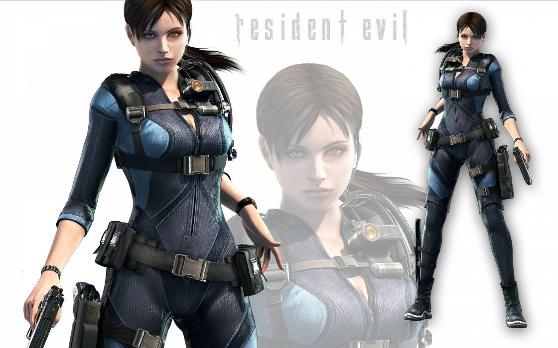 GAMES - Resident Evil 3D Jill Valentine women girl warrior capcom fighter wallpaper