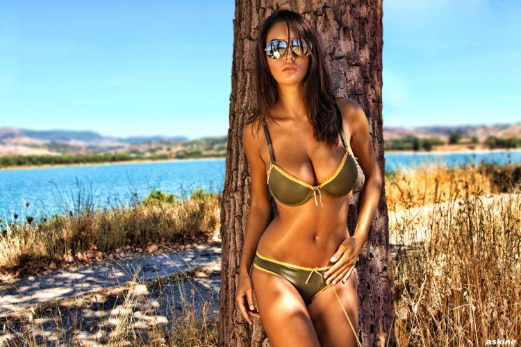 sensuality Ela Savanas women girl brunette beauty model wallpaper