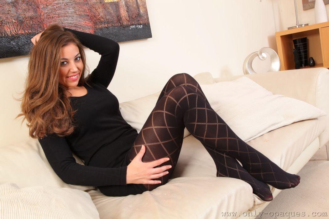 sensuality women girls redhead Emma Watts pantyhose legs wallpaper