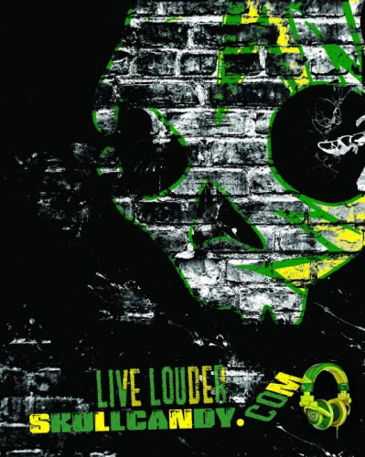SKULLCANDY headphones music stereo radio speaker speakers 1scandy skull poster wallpaper