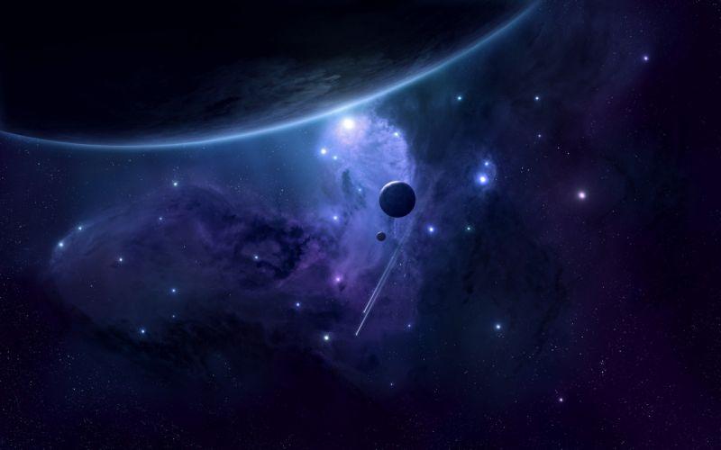 space blue beautiful stars wallpaper
