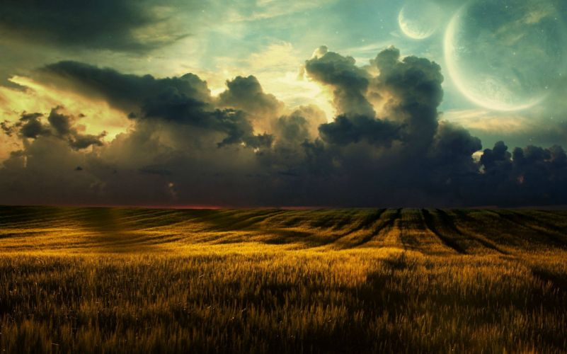 photo-clouds-field wallpaper