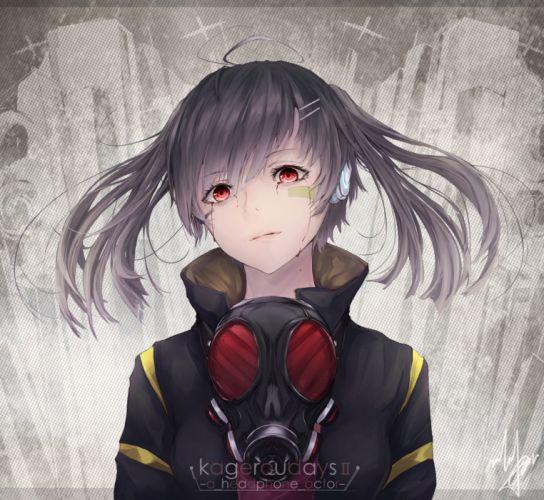 red eyes blood girl anime-art-marumoru- wallpaper