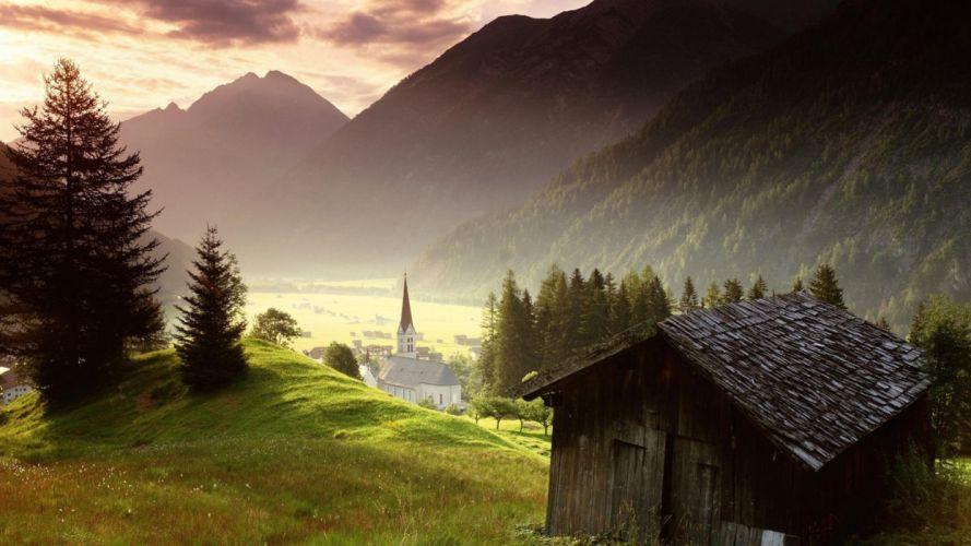 paisajes austria montaA wallpaper