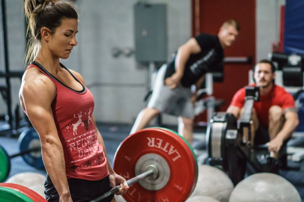 SPORTS - girl women blonde crossfit exercise training weightlifting strong TeamCrossFitFury wallpaper