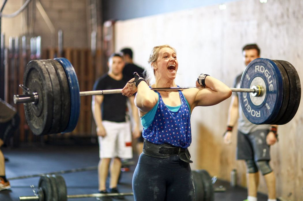 SPORTS - girl women blonde crossfit exercise training weightlifting strong wallpaper