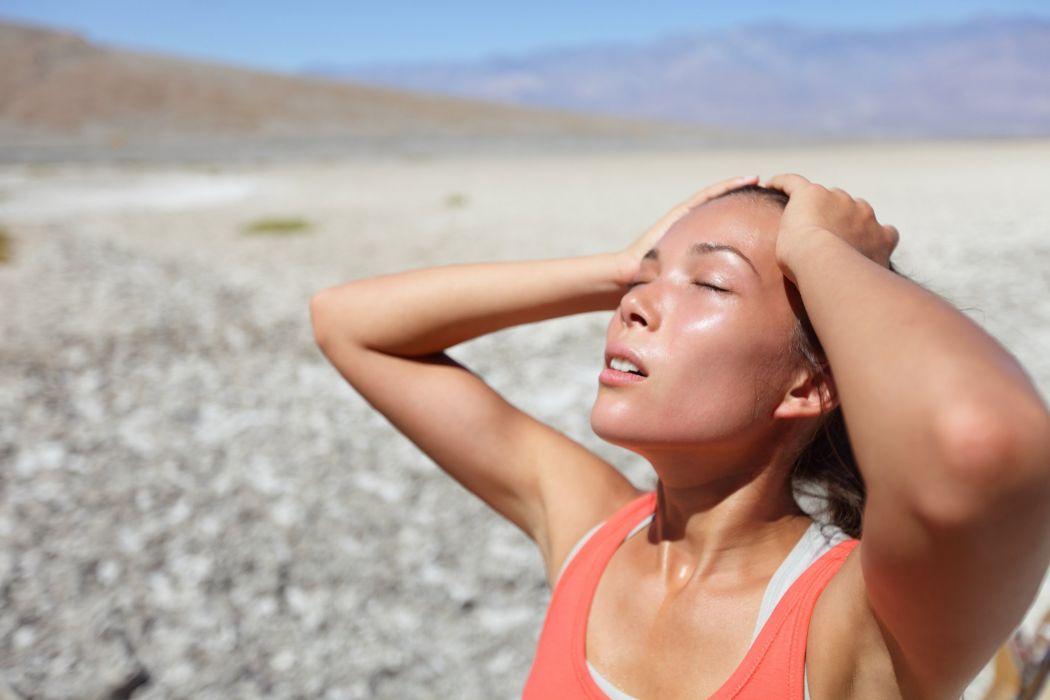 SPORTS - girl women brunette fitness exercise sweating hot sun wallpaper