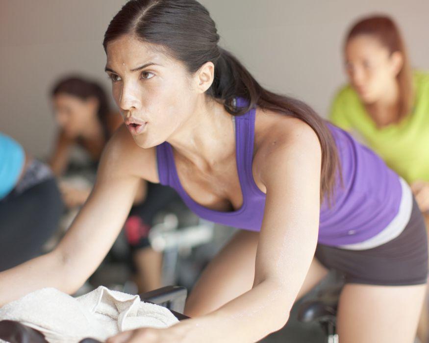 SPORTS - girl women brunette fitness exercise sweating wallpaper