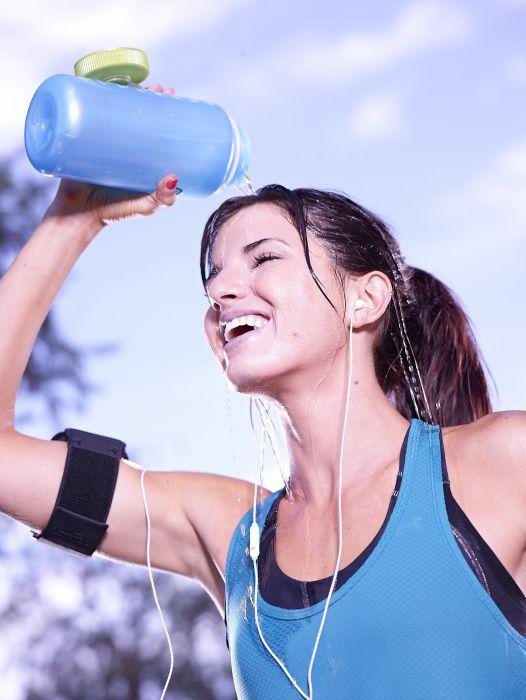 SPORTS - girl women brunette fitness exercise training athletic sweating hot sun wallpaper