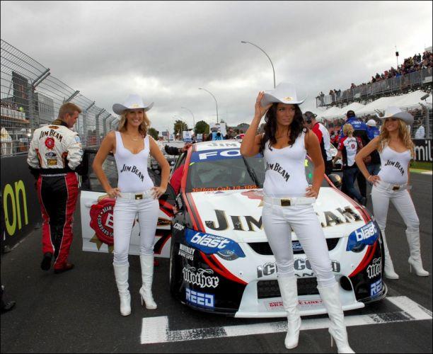 SPORTS - girls women race jim beam team style fun boots hats wallpaper