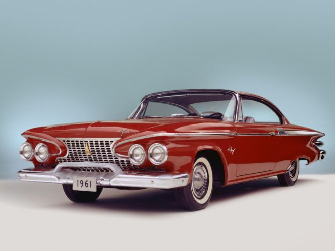 Plymouth Fury Hardtop Coupe 1961 classic cars red wallpaper