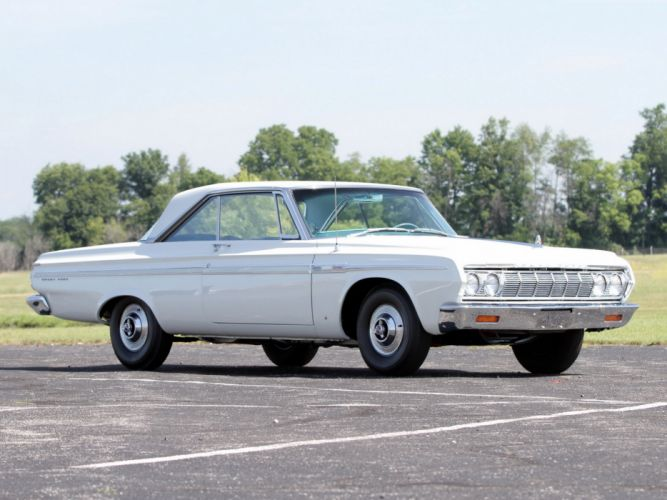 1964 Plymouth Sport Fury 426 'Max Wedge Stage III ' Hardtop Coupe classic cars white wallpaper