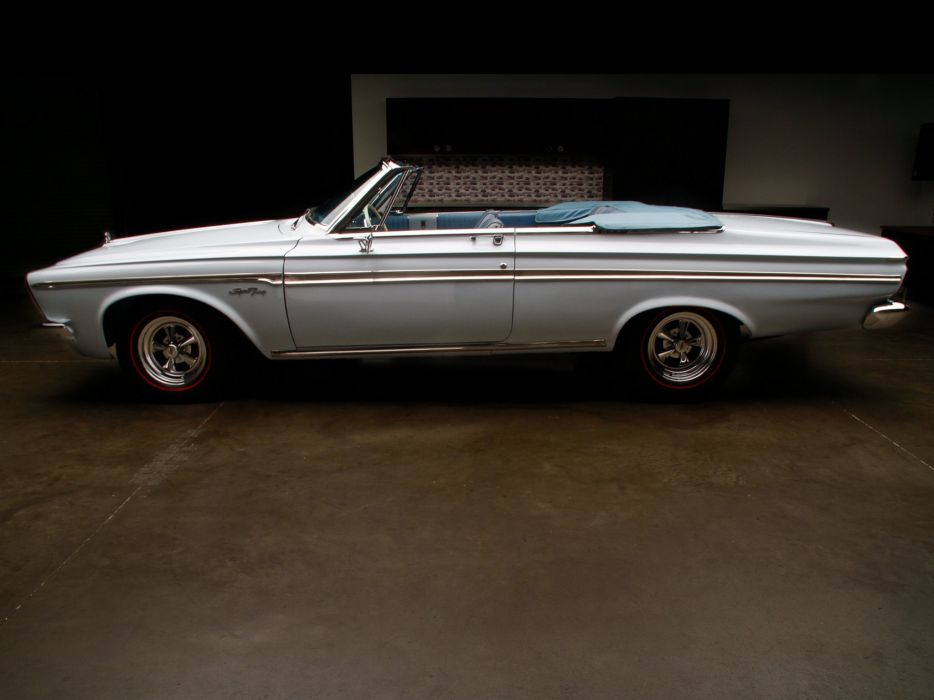 Plymouth Sport Fury Convertible 1963 classic cars white wallpaper