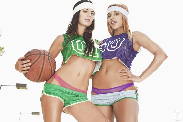 Audrey Nicole basketball ball shape body athletes wallpaper