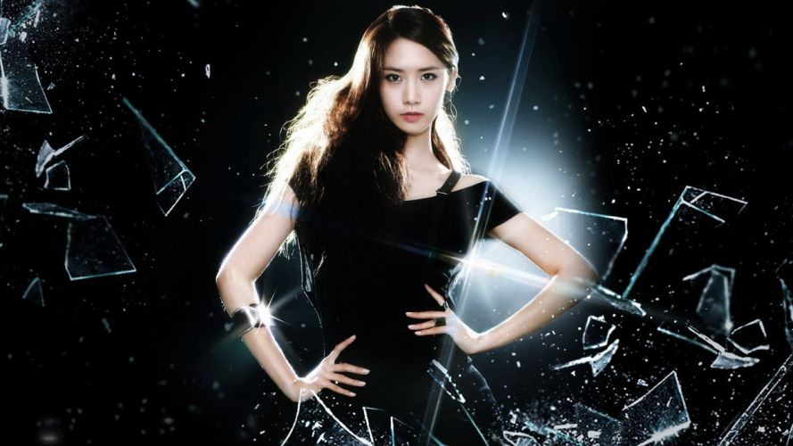 fashion generation icy black style women girls asian wallpaper