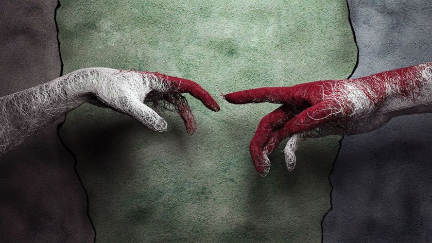 HANDS - art michelangelo wallpaper
