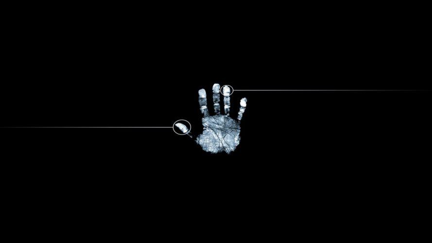 HANDS - black fingerprints wallpaper