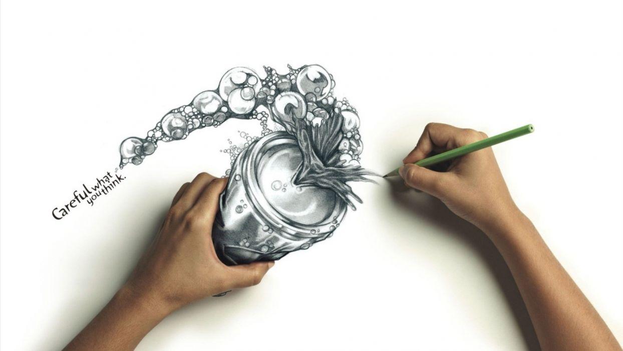 Hands carrot pencil drawing wallpaper