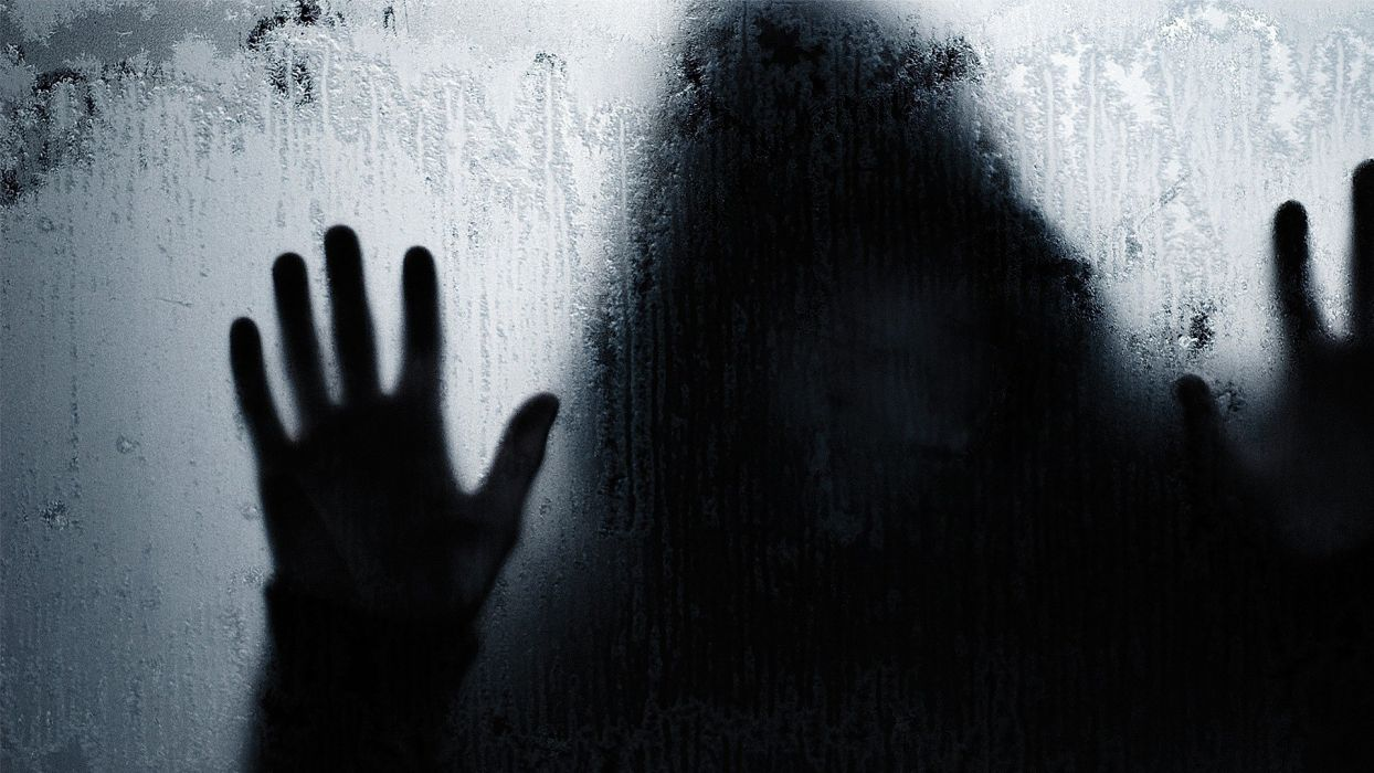 HANDS - creepy silhouette glass sweaty wallpaper