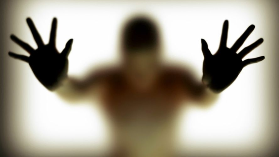 HANDS - glass silhouette wallpaper
