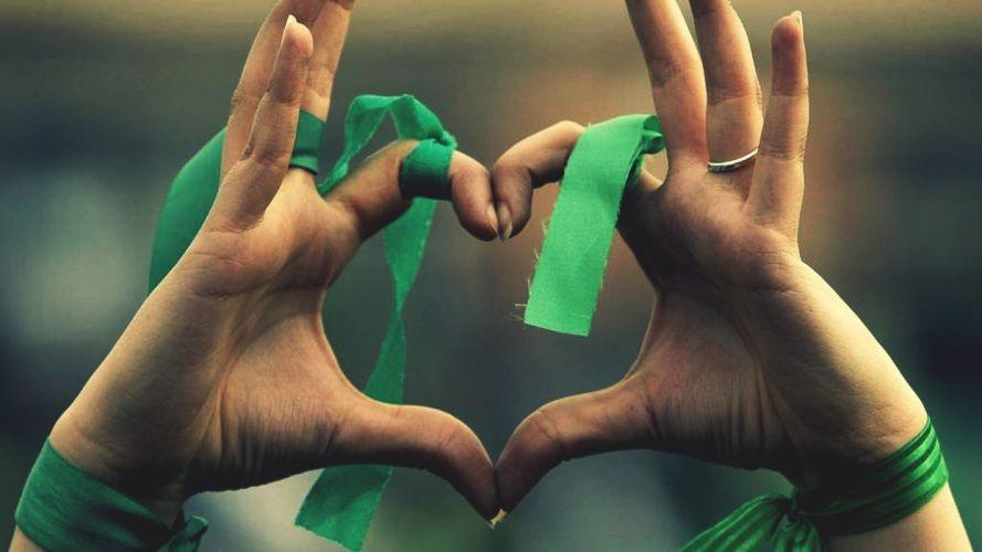 HANDS - heart ribbon wallpaper