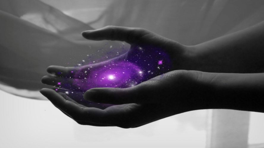 HANDS - magic light purple wallpaper