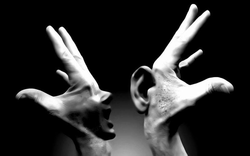 HANDS - talking listening fantasy wallpaper