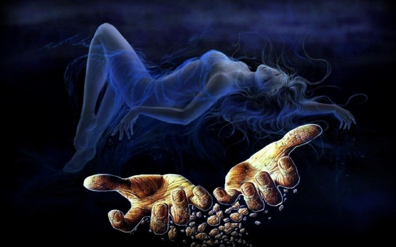 HANDS - women girls dreams worn wallpaper