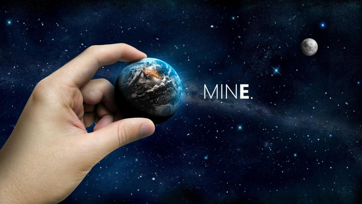 HANDS - world planets universe small wallpaper