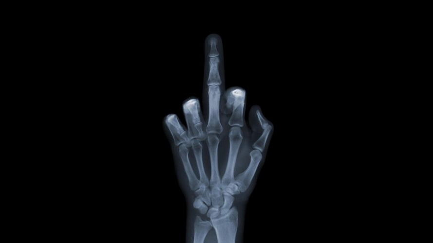 HANDS - X-Ray fuck-you signal wallpaper
