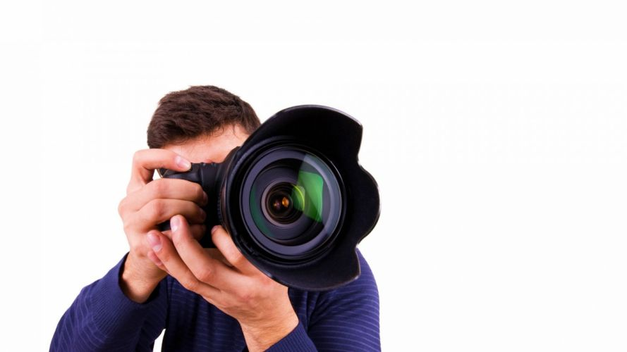 photographer hands camera optics wallpaper