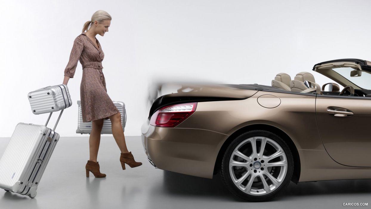 WOMEN AND MACHINE - girl blonde mercedes benz class wallpaper