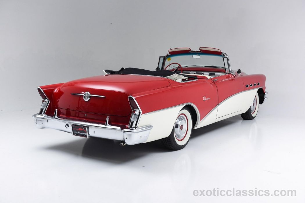 1956 Buick Super Convertible classic cars red white wallpaper