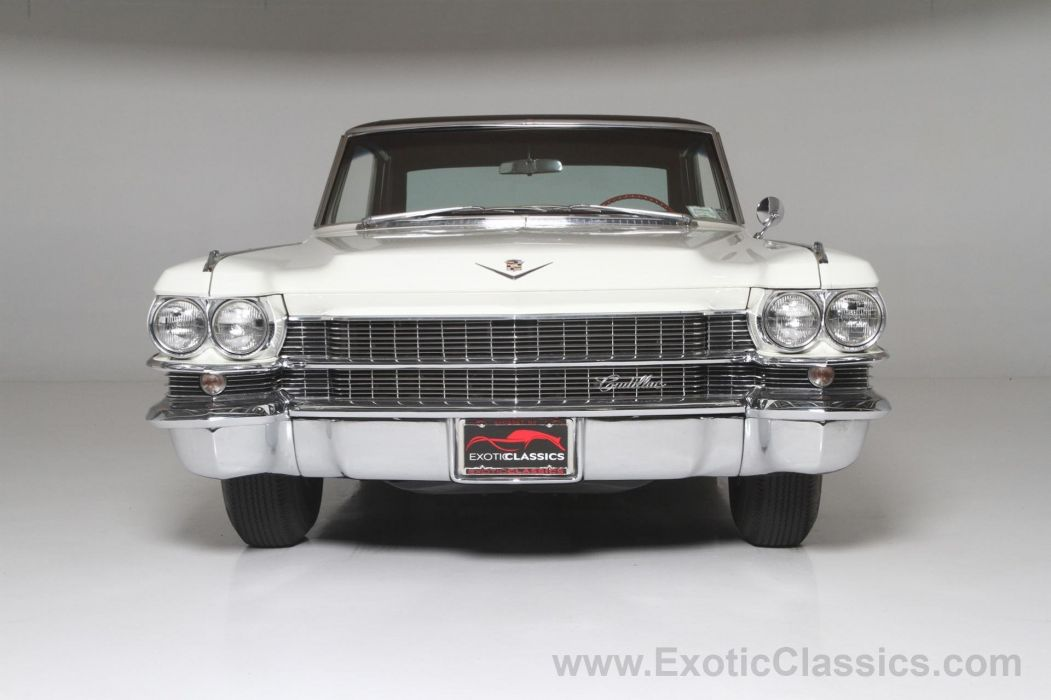 1963 Cadillac Coupe De-Ville cars classic white wallpaper