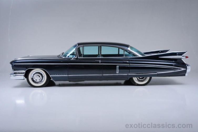 1959 Cadillac Fleetwood 60 Special Sedan cars classic black wallpaper